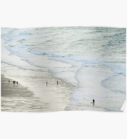 Strolling the Surf Poster