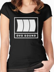 Ovo Sound Logo Funny Geek Nerd Women's Fitted Scoop T-Shirt