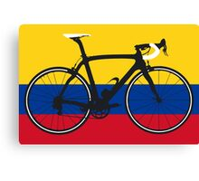 Bike Flag Colombia (Big - Highlight) Canvas Print