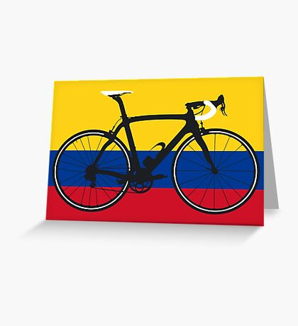 Bike Flag Colombia (Big - Highlight) Greeting Card