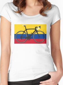Bike Flag Colombia (Big - Highlight) Women's Fitted Scoop T-Shirt