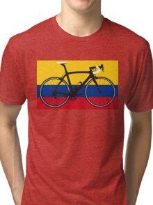 Bike Flag Colombia (Big - Highlight) Tri-blend T-Shirt