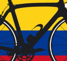 Bike Flag Colombia (Big - Highlight) Sticker