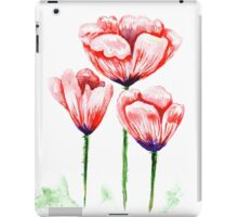 Watercolor poppies illustration iPad Case/Skin