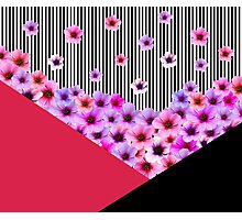 Flowers and Stripes Photographic Print