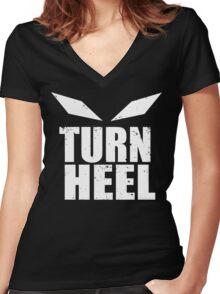 Turn Heel Women's Fitted V-Neck T-Shirt
