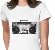Green Left Radio (light colours version) Womens Fitted T-Shirt