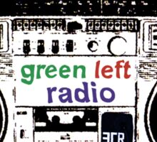 Green Left Radio (light colours version) Sticker