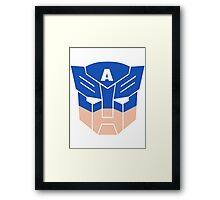 Captain America in Transformers Framed Print