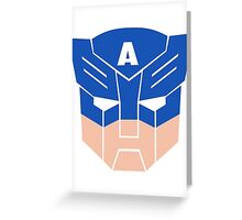 Captain America in Transformers Greeting Card