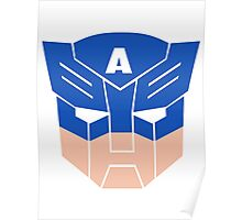 Captain America in Transformers Poster