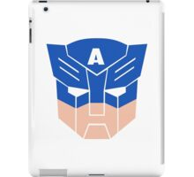 Captain America in Transformers iPad Case/Skin
