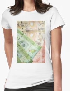 Sri Lankan rupees Womens Fitted T-Shirt