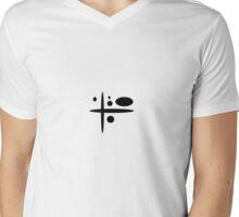 Black Elipse Mens V-Neck T-Shirt
