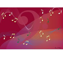 I Hear Music - Red Photographic Print
