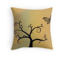 Last Tree Standing - Yellow Throw Pillow
