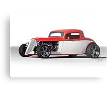 1933 Ford 3 Window Coupe 'Studio' 2 Metal Print