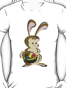 Easter Bunny with a Basket of Eggs T-Shirt