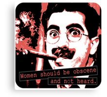 Groucho Marx - Women Canvas Print