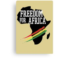 FREEDOM FOR AFRICA Canvas Print