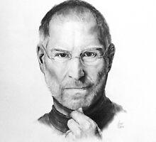 Steve Jobs Pencil Drawing by oneillartdesign