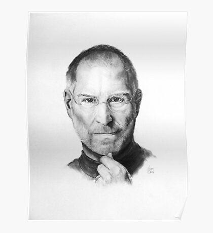 Steve Jobs Pencil Drawing Poster