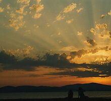 sunset in sardinia by dobayferenc