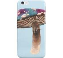 Purple and Blue Spotted Toadstool iPhone Case/Skin