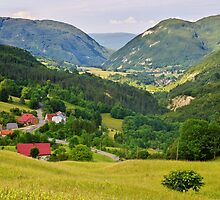 Rural landscape in Valserine valley by Patrick Morand