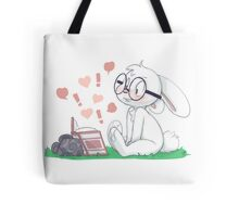 Dirty Bunny - Hearts and Exclamation Marks Tote Bag