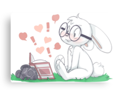 Dirty Bunny - Hearts and Exclamation Marks Metal Print