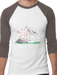 Dirty Bunny - Hearts and Exclamation Marks Men's Baseball ¾ T-Shirt