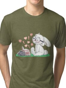 Dirty Bunny - Hearts and Exclamation Marks Tri-blend T-Shirt