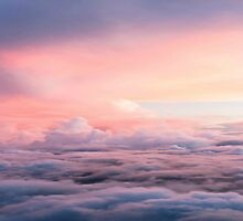 Between The Clouds, The Sky Is Always Blue Indeed Pink by ElisaAngelOk