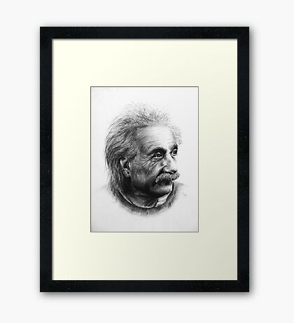 Albert Eistein Pencil Portrait Framed Print