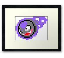 Pokemon 8-Bit Pixel Gastly 092 Framed Print