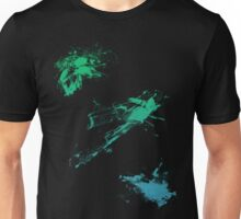 color splash green-blue Unisex T-Shirt