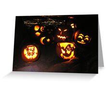 Jack o' Lanterns over Boulder Greeting Card