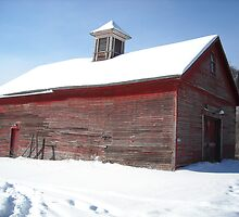 Old Red Barn:  Rte 2A Athol MA by Rebecca Bryson