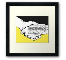 Hope and Faith Framed Print