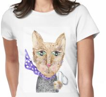 Matrix cat Womens Fitted T-Shirt