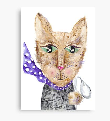 Matrix cat Canvas Print