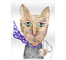 Matrix cat Poster