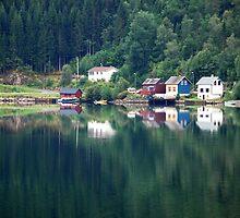 Calm weather in Ulvik - Norway by Arie Koene