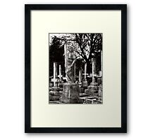 wHen cRosSEs sTanD UpsiDe DoWn, nO SAvioUR oN eARth wiLL bE fOUnd. Framed Print