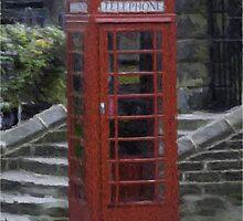 Telephone Box - Oil Effect by Glen Allen
