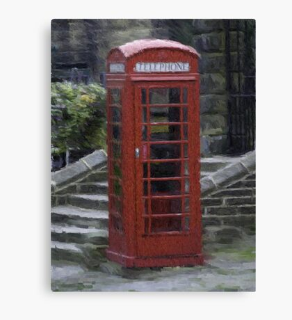 Telephone Box - Oil Effect Canvas Print