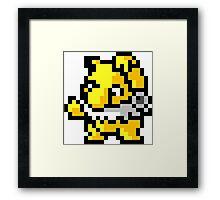 Pokemon 8-Bit Pixel Hypno 097 Framed Print