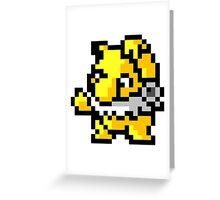 Pokemon 8-Bit Pixel Hypno 097 Greeting Card