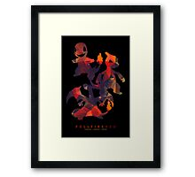Full Fire Red Framed Print